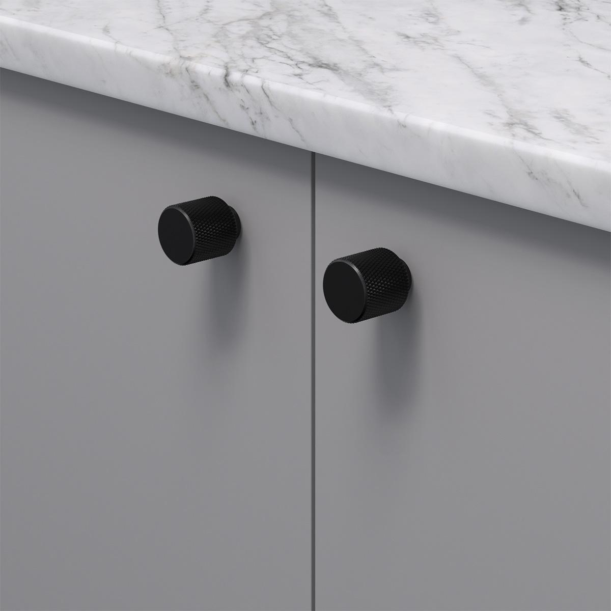 Knopp helix matt svart 309025 11 20 mm ncs s 4500 n marmor carrara