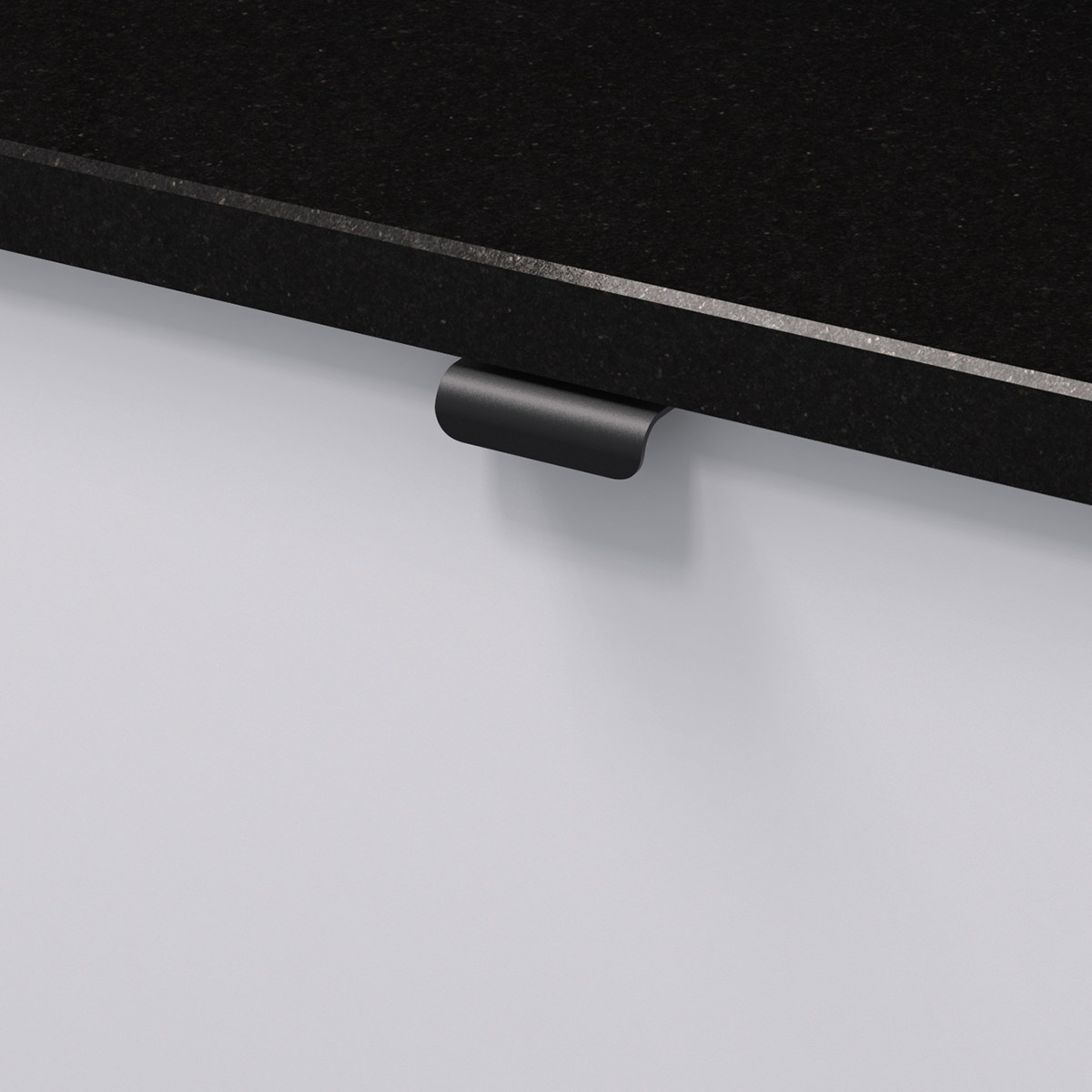 Profilhandtag lip svart 343454 11 40 mm ncs s 0300 n granit svart