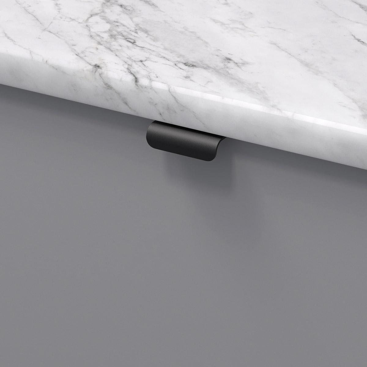 Profilhandtag lip svart 343454 11 40 mm ncs s 4500 n marmor carrara