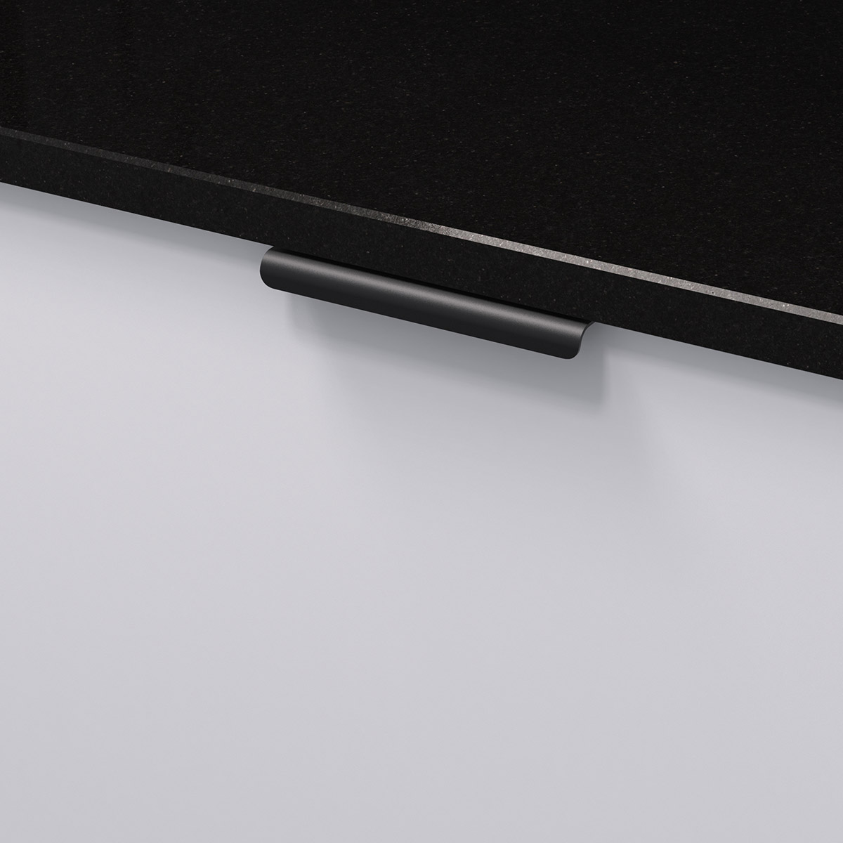 Profilhandtag lip svart 343458 11 120 mm ncs s 0300 n granit svart