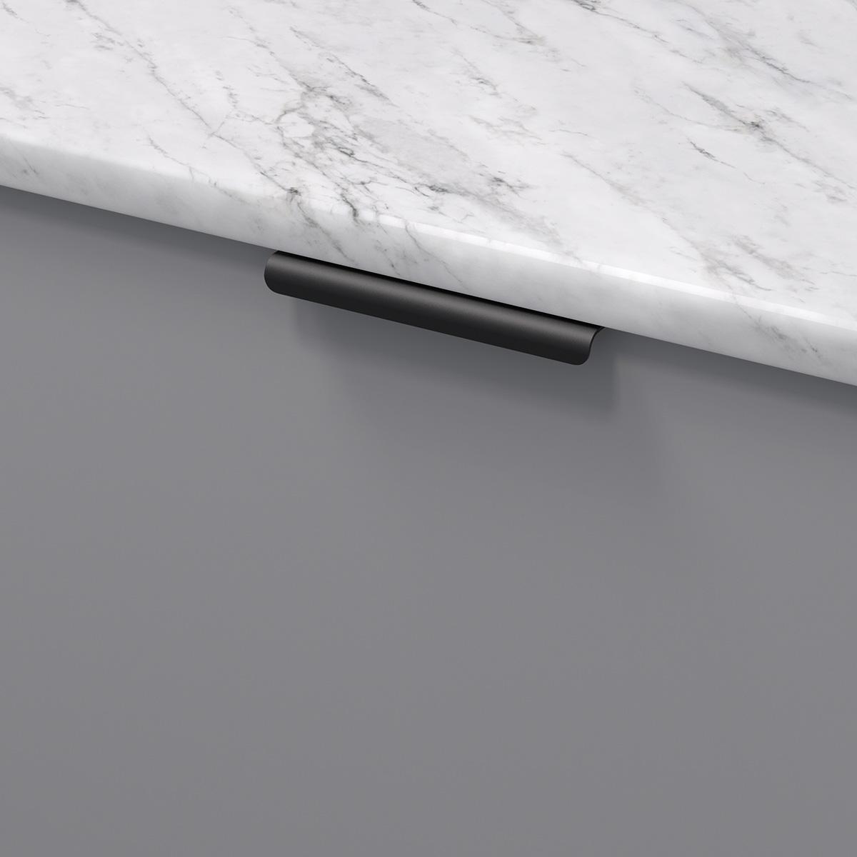 Profilhandtag lip svart 343458 11 120 mm ncs s 4500 n marmor carrara
