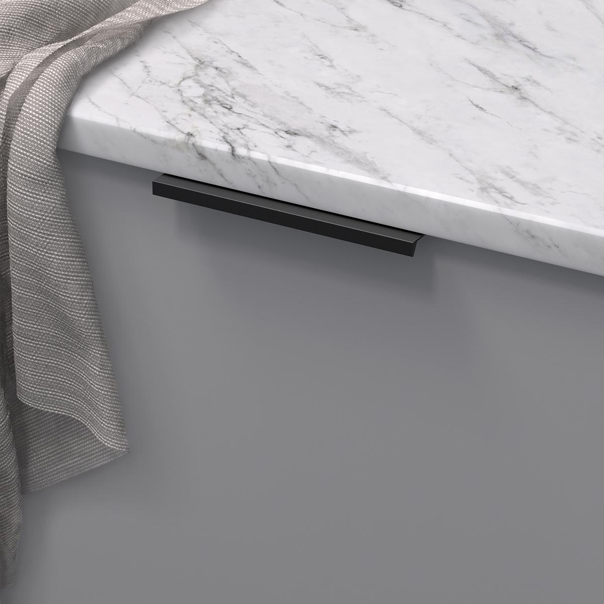 Profilhandtag slim 4025 matt svart 305176 11 136 mm ncs s 4500 n marmor carrara