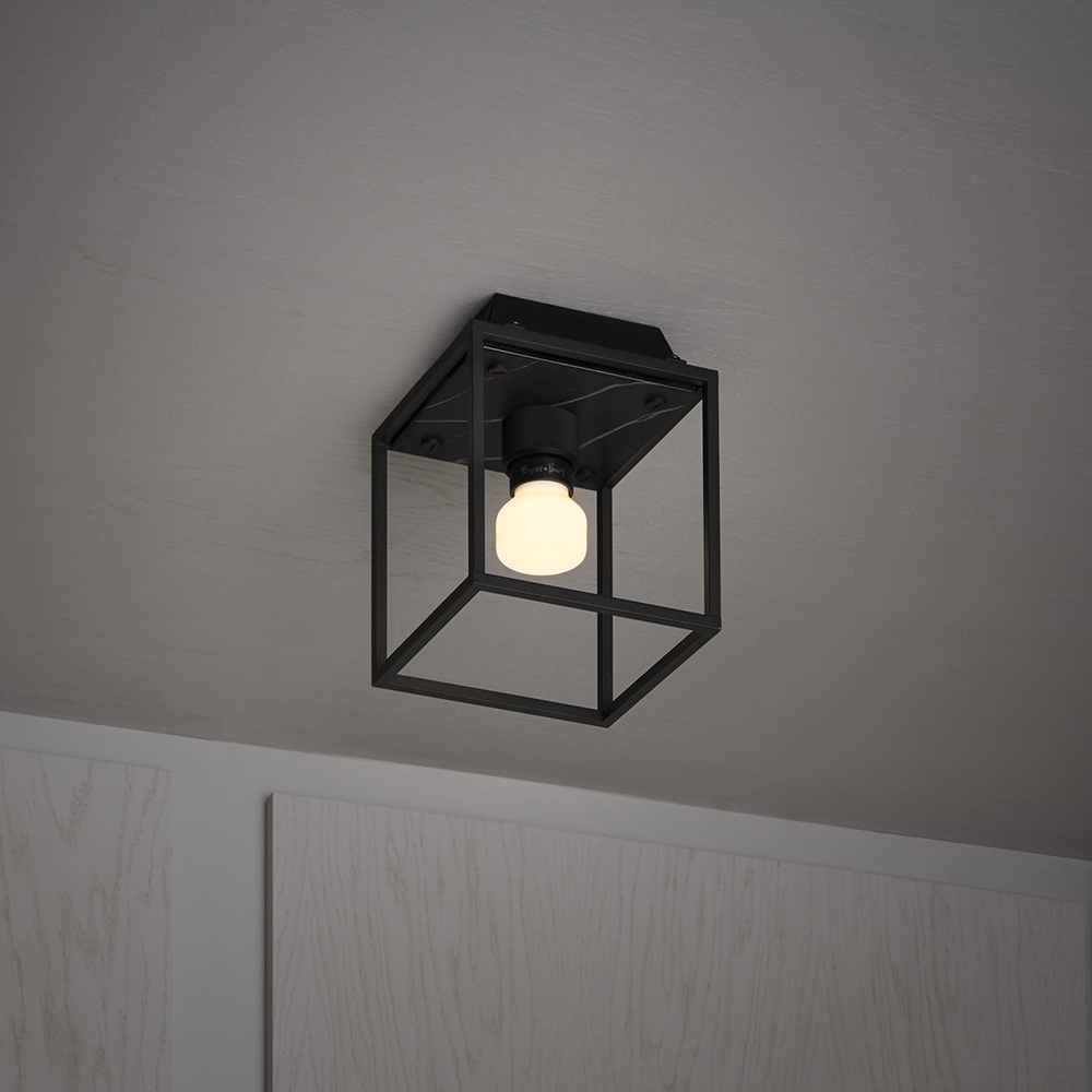 RCA 02275 buster punch caged taklampa vagglampa 1 small black marble