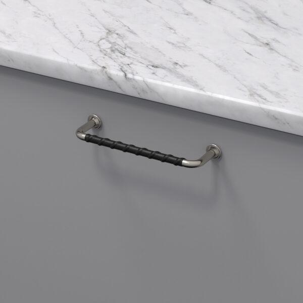 Handtag 1353 fornicklad svart lader 330715 11 cc 128 mm ncs s 4500 n marmor carrara
