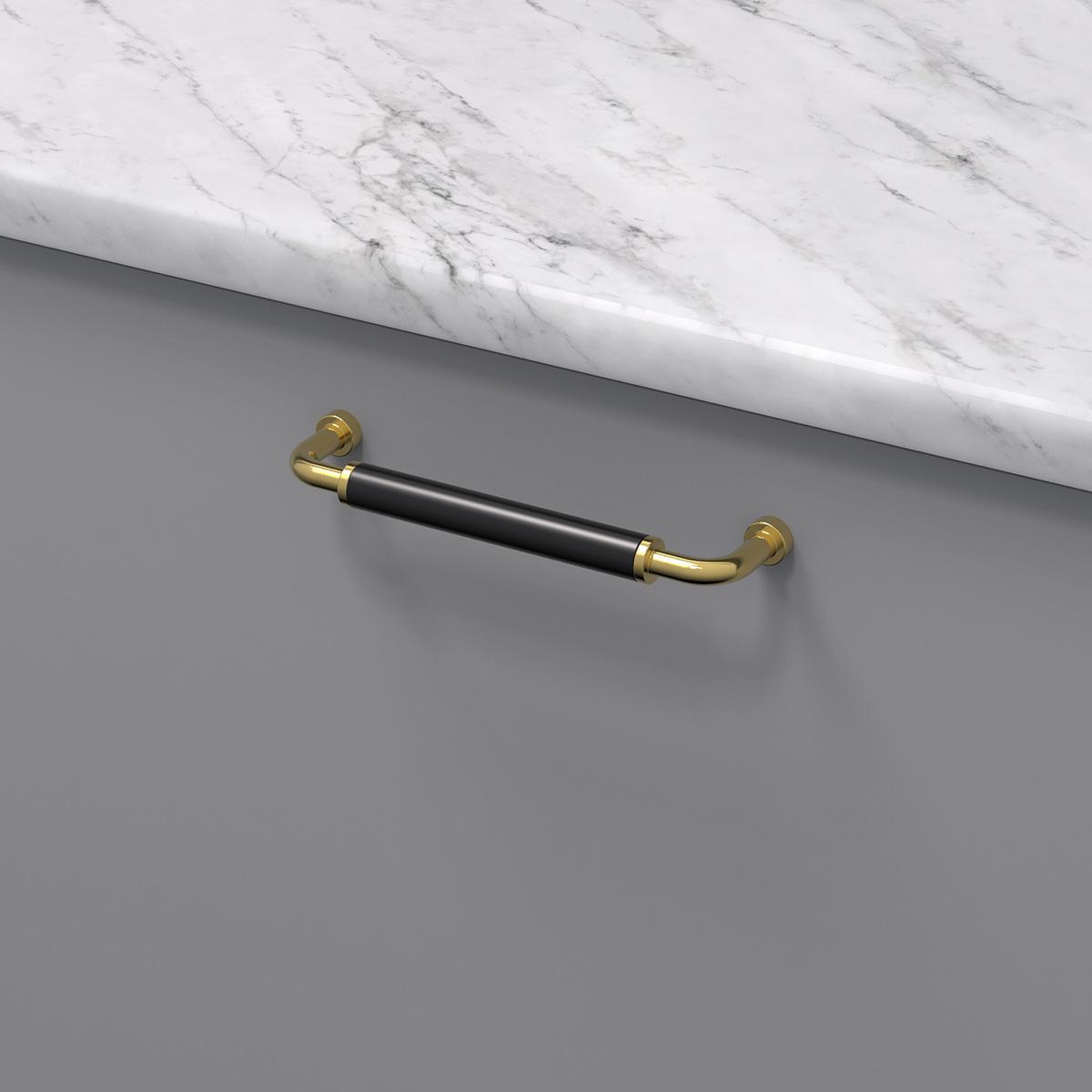 Handtag brohult m polerad massing svart 397047 11 cc 128 mm ncs s 4500 n marmor carrara