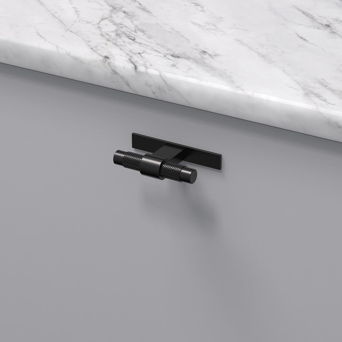 Knopp pitch med bricka matt svart 309110 11 ncs s 3000 n marmor carrara