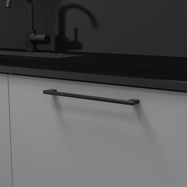 Handtag graf mini matt svart 370236 11 cc 256 mm ncs s 4500 n granit svart
