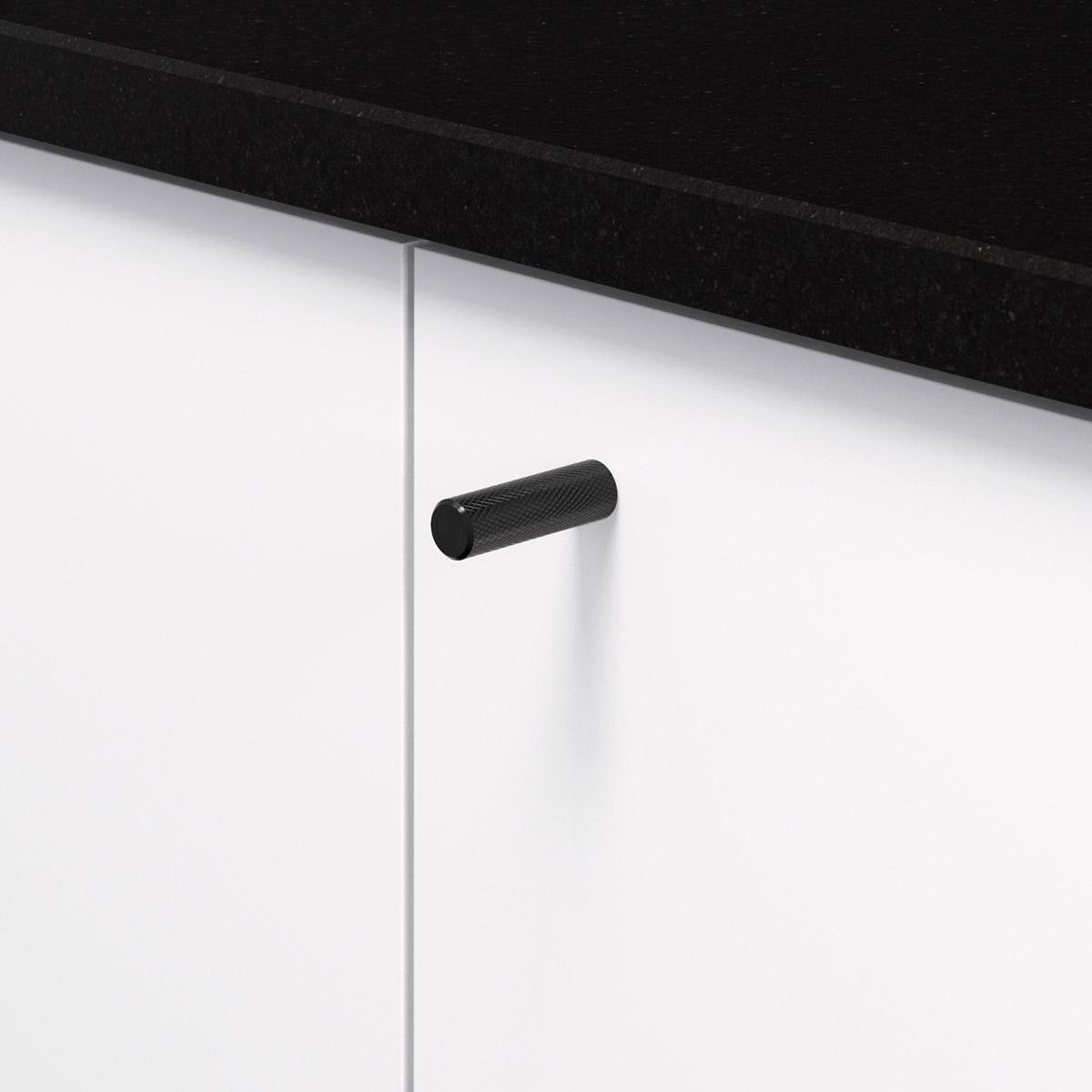 Knopp matt svart 370226 11 10 mm ncs s 0300 n granit svart