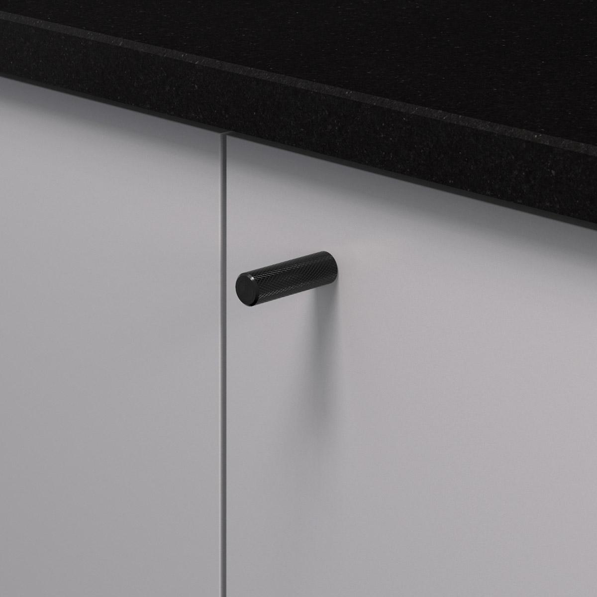 Knopp matt svart 370226 11 10 mm ncs s 4500 n granit svart