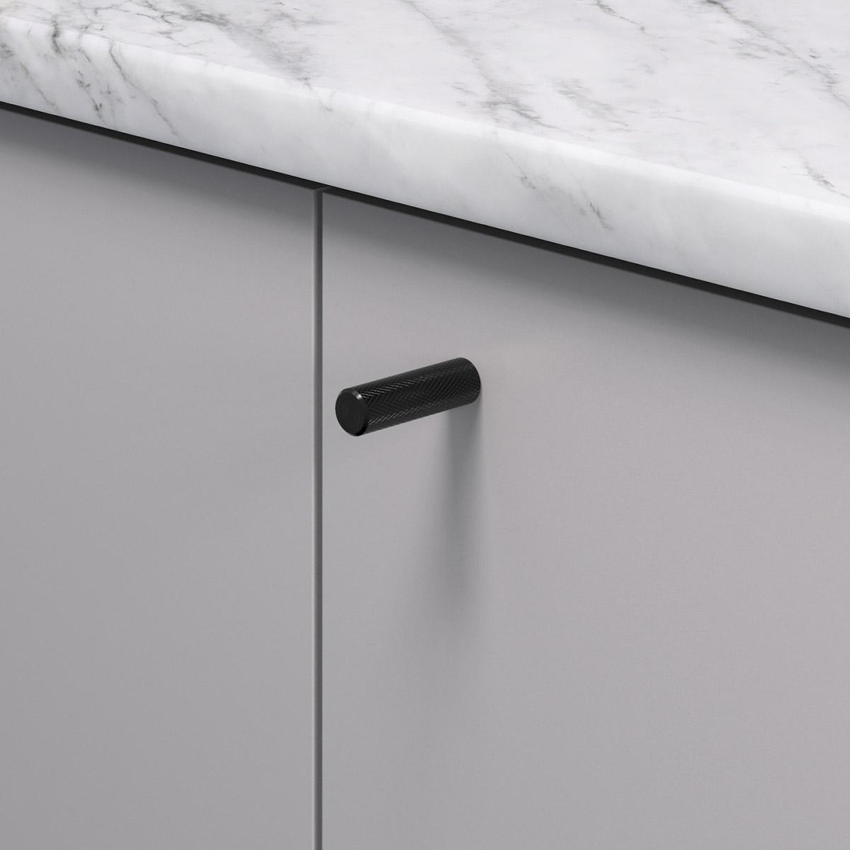 Knopp matt svart 370226 11 10 mm ncs s 4500 n marmor carrara
