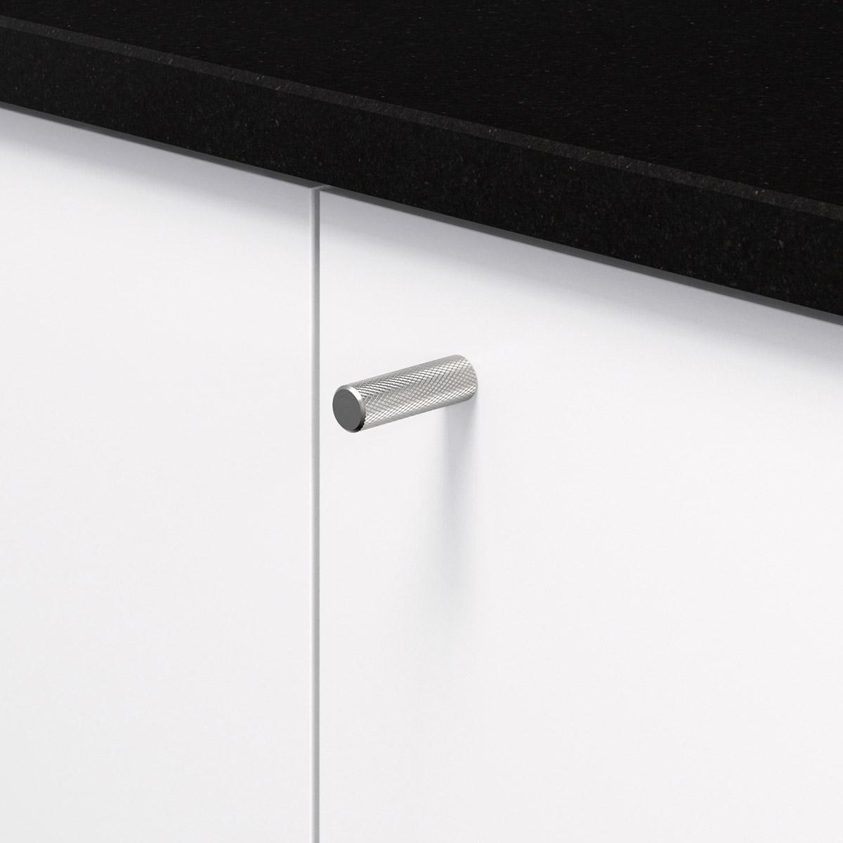 Knopp rostfri look 370225 11 10 mm ncs s 0300 n granit svart