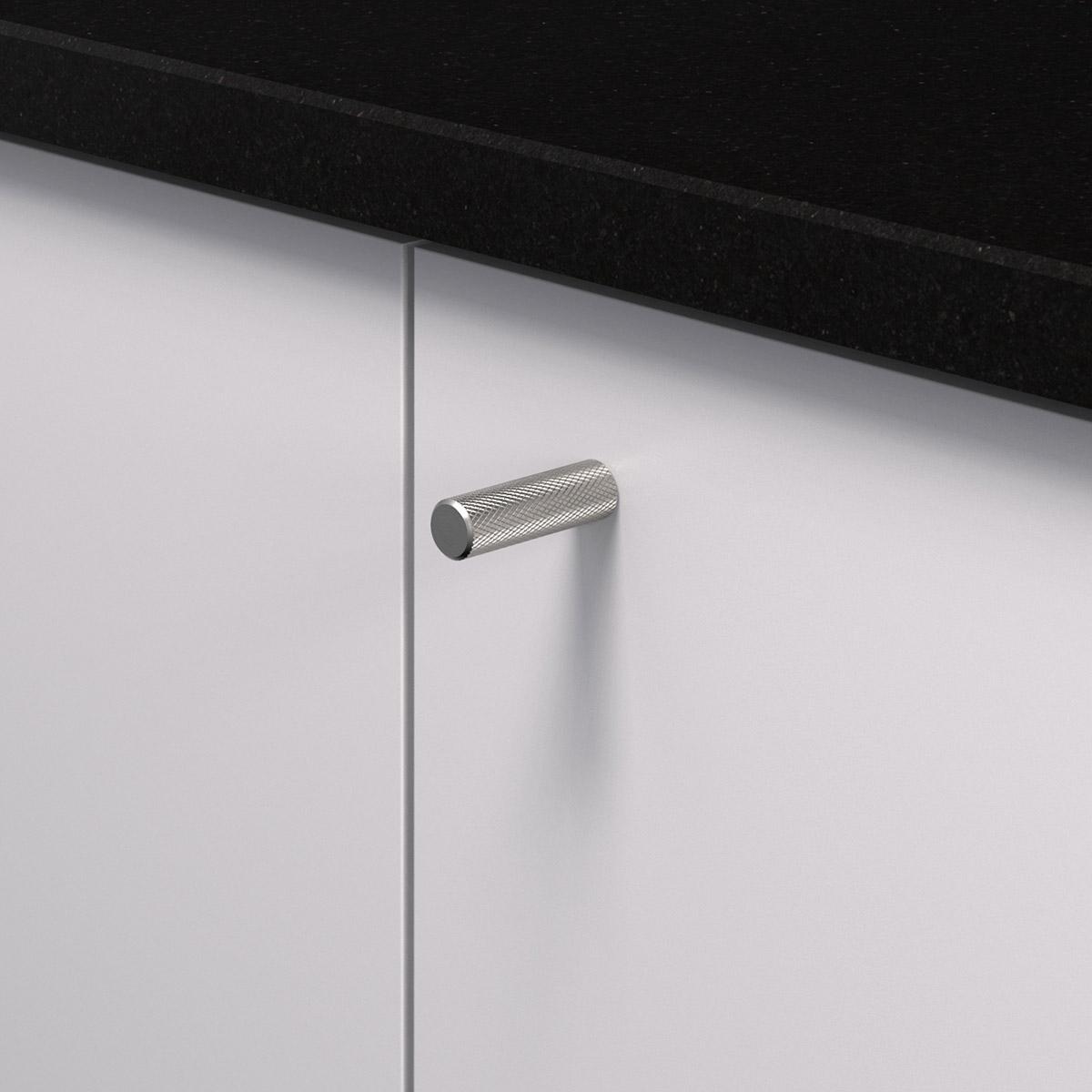 Knopp rostfri look 370225 11 10 mm ncs s 3000 n granit svart