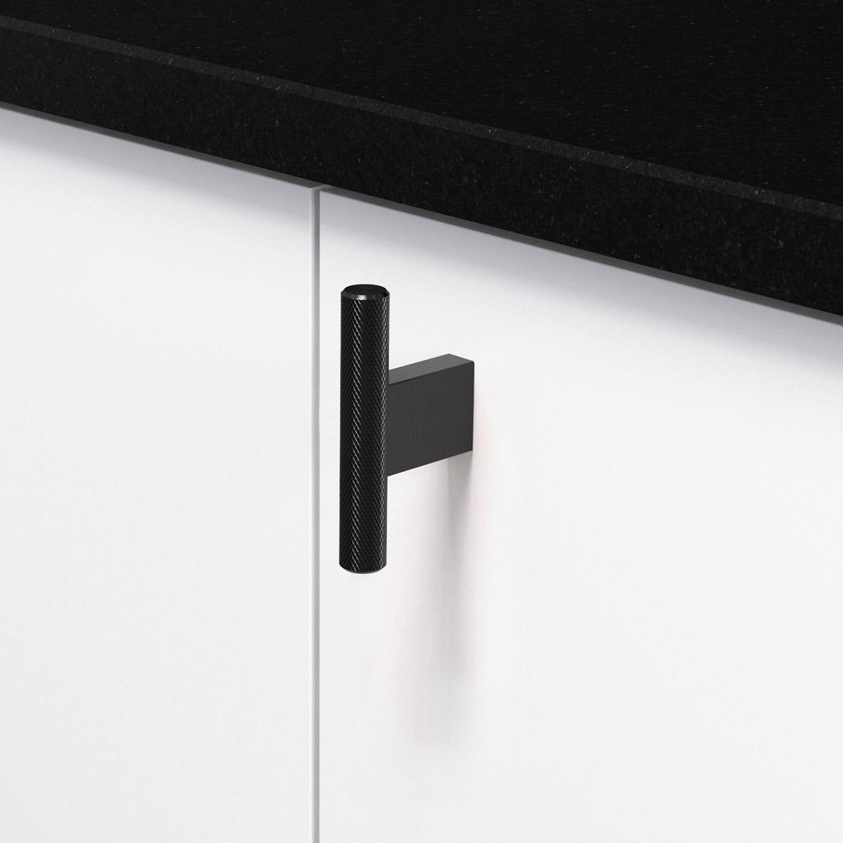 Knopp t graf mini matt svart 370251 11 10 mm ncs s 0300 n granit svart