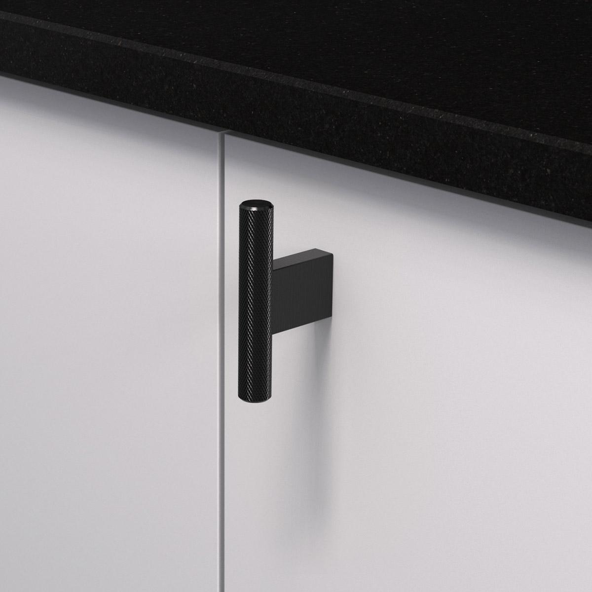 Knopp t graf mini matt svart 370251 11 10 mm ncs s 3000 n granit svart