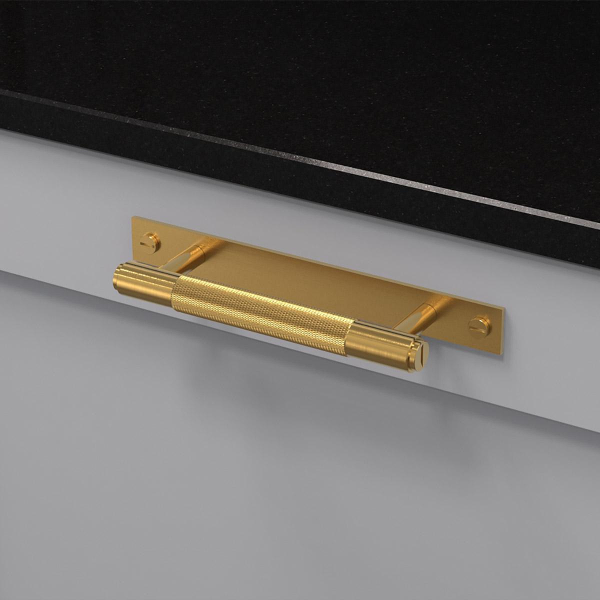 pull bar plate massing uk pb hp 160 br a cc 125 mm ncs s 3000 n granit svart
