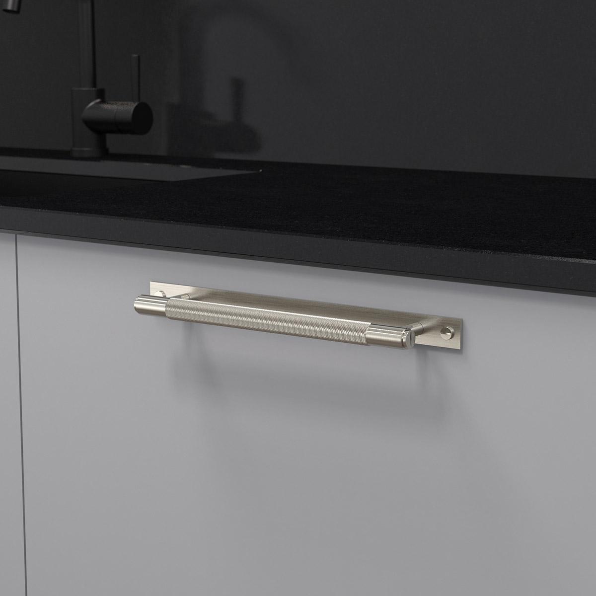 pull bar plate stål uk pb hp 260 st a cc 225 mm ncs s 3000 n granit svart