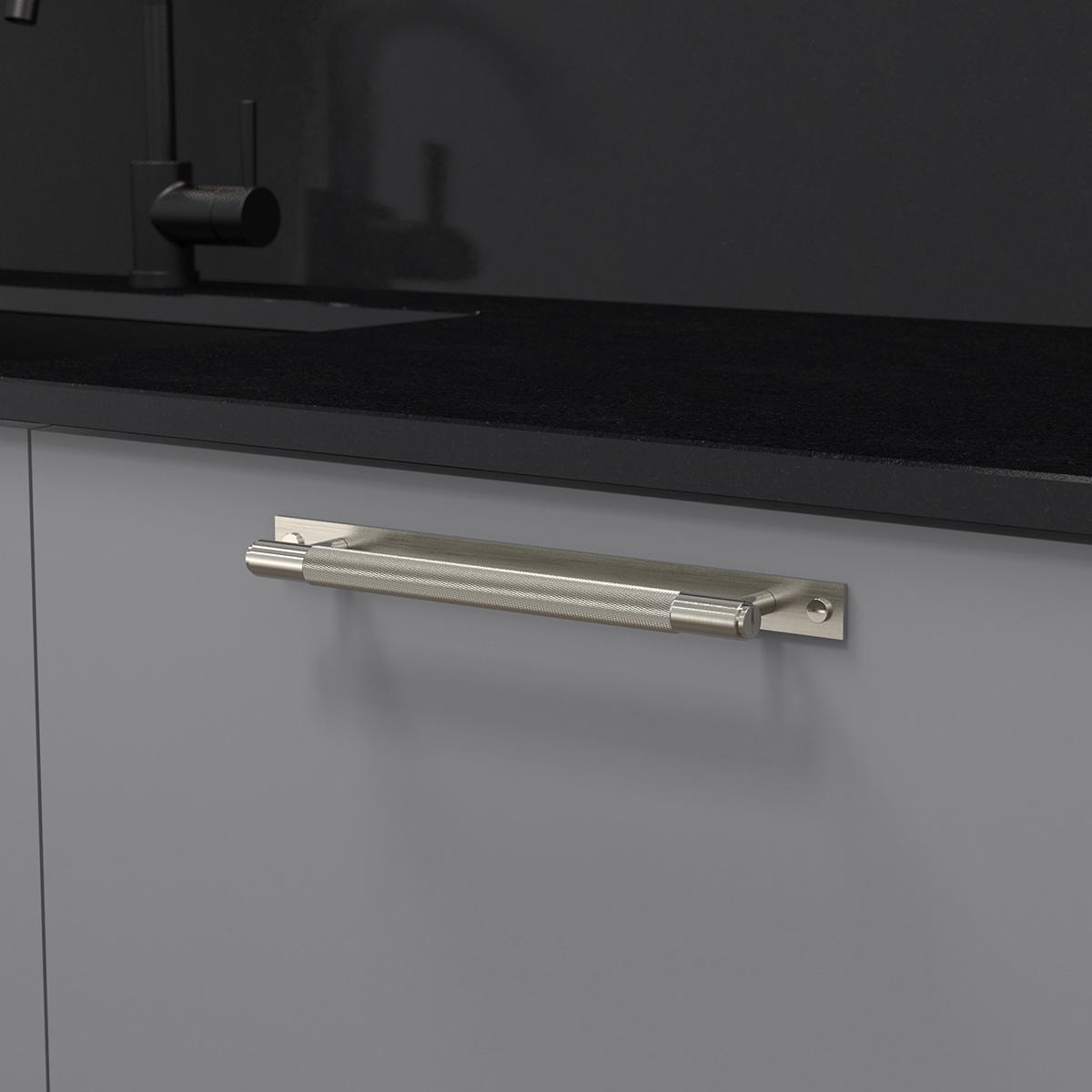 pull bar plate stål uk pb hp 260 st a cc 225 mm ncs s 4500 n granit svart