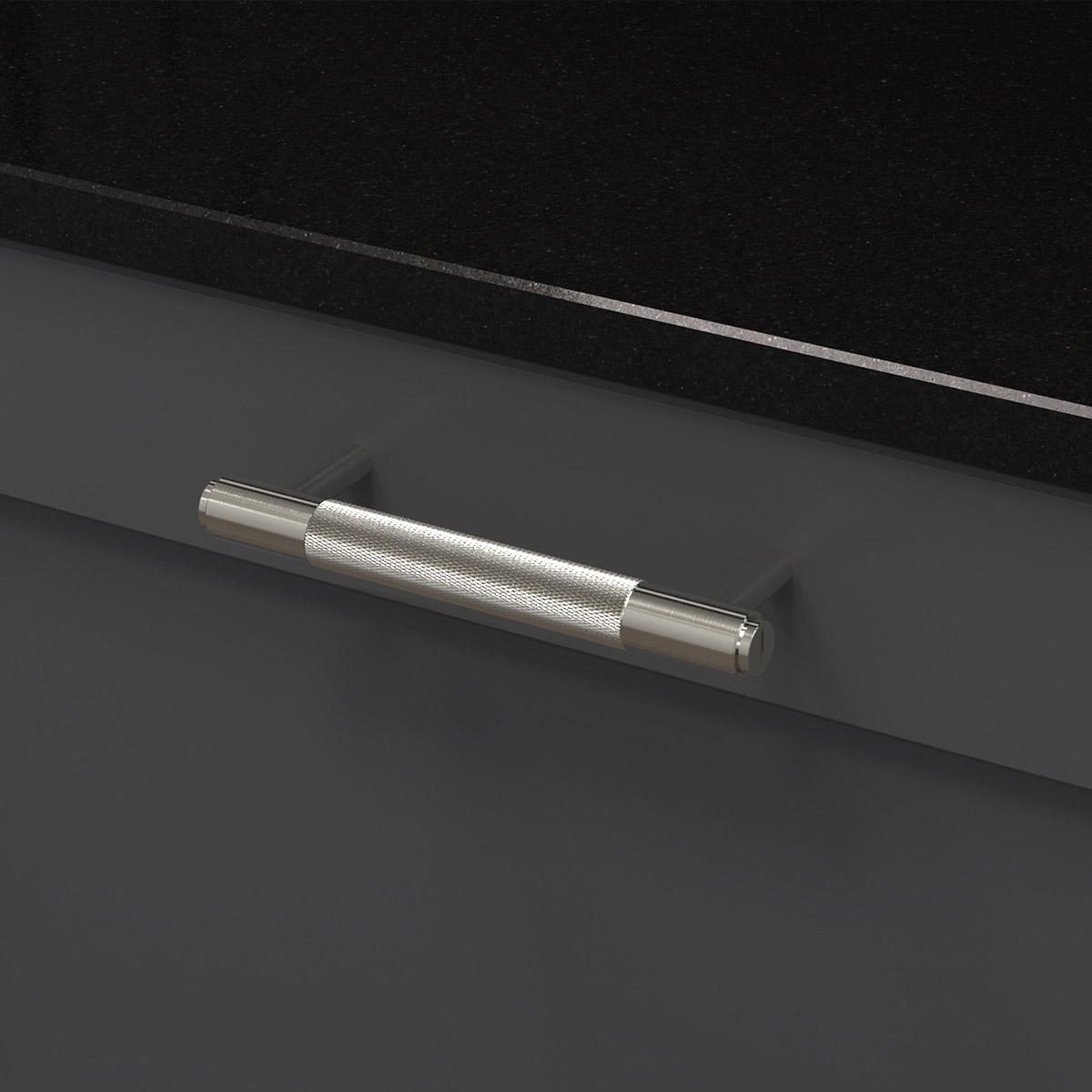 pull bar stål uk pb h 160 st a cc 125 mm ncs s 7500 n granit svart