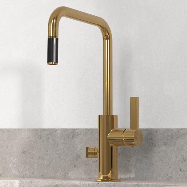 tapwell koksblandare arm887 honey gold 9421259 concrete grey