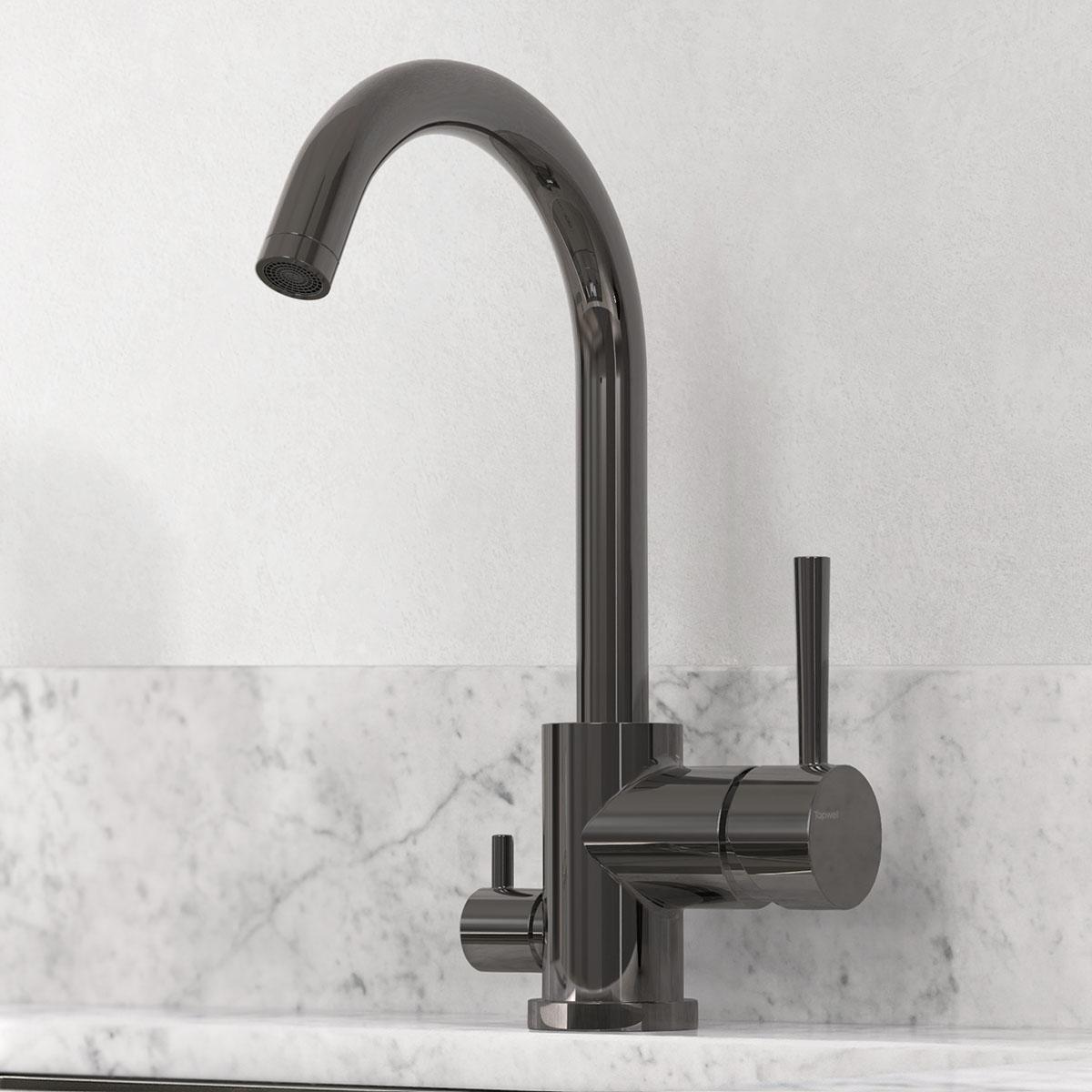 tapwell koksblandare evo184 black chrome 9418802 marmor carrara