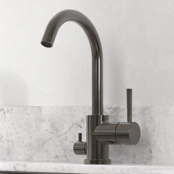 tapwell koksblandare evo184 brushed black chrome 9422583 marmor carrara