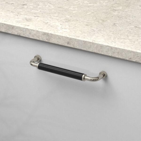 Handtag brohult m fornicklad svart 397045 11 cc 128 mm ncs s 4500 n kalksten inzoomning
