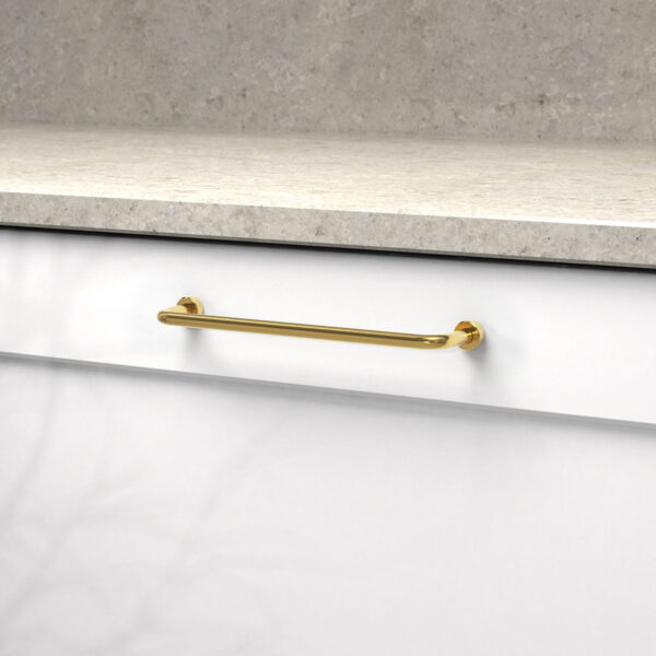 Handtag lounge polerad massing 370121 11 cc 160 mm ncs s 0300 n kalksten