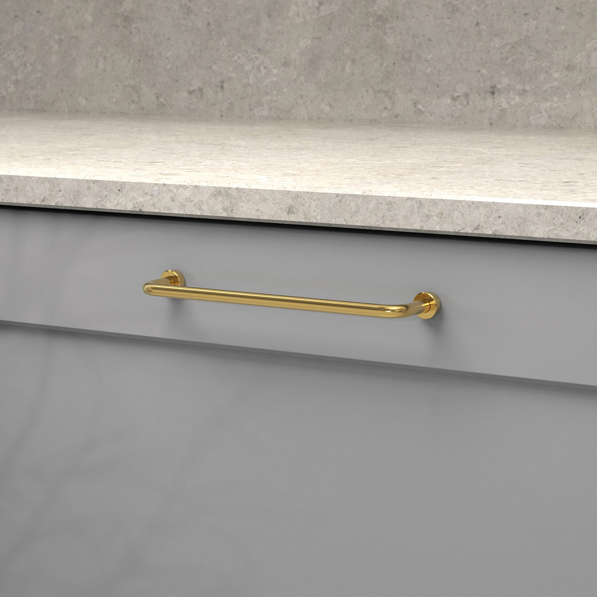 Handtag lounge polerad massing 370121 11 cc 160 mm ncs s 4500 n kalksten