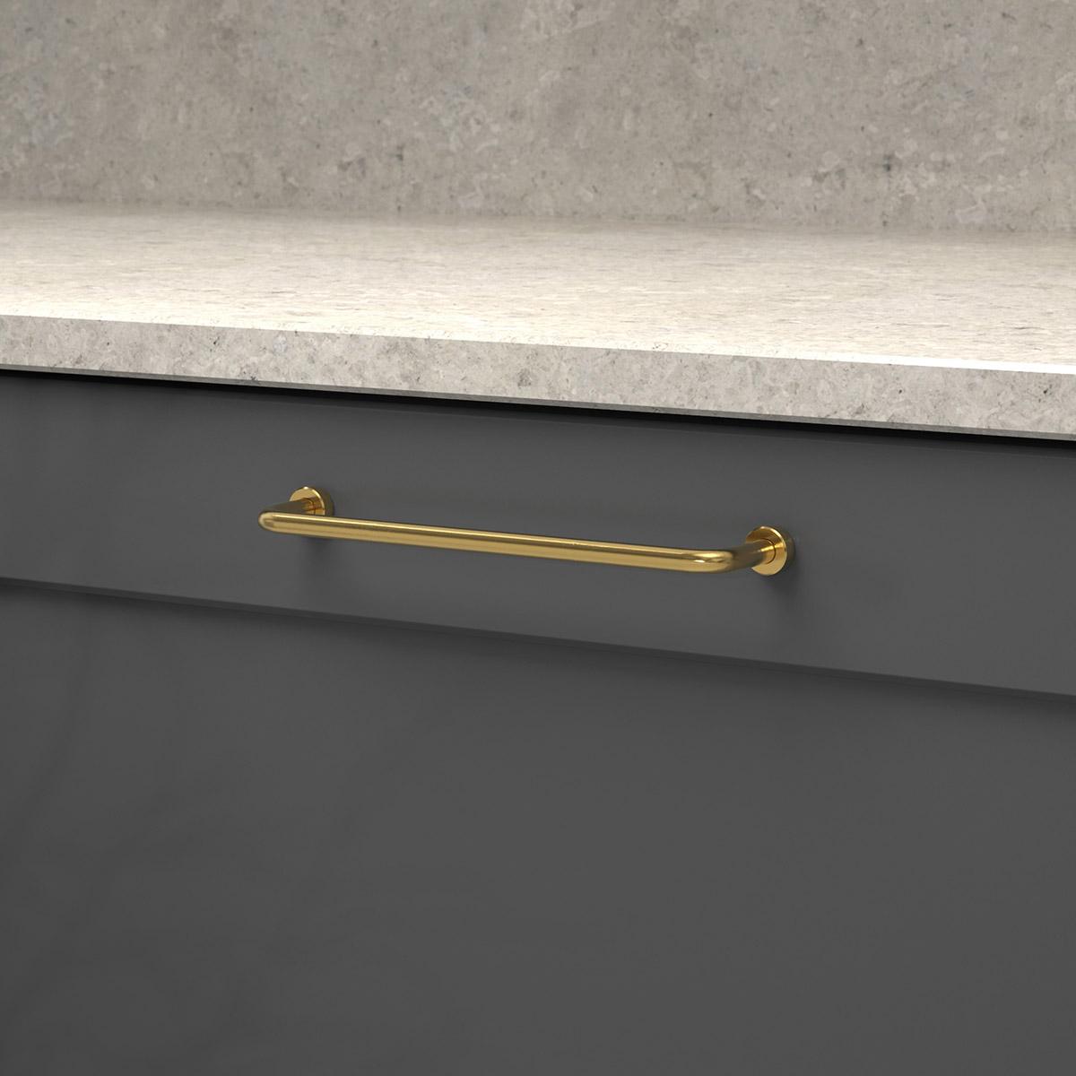 Handtag lounge polerad massing 370121 11 cc 160 mm ncs s 7500 n kalksten