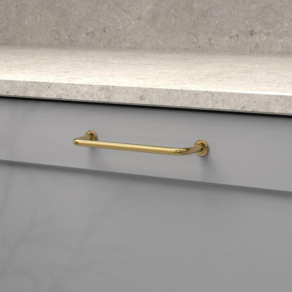 Kokshandtag 1353 polerad massing 33062 11 cc 128 mm ncs s 4500 n marmor carrara