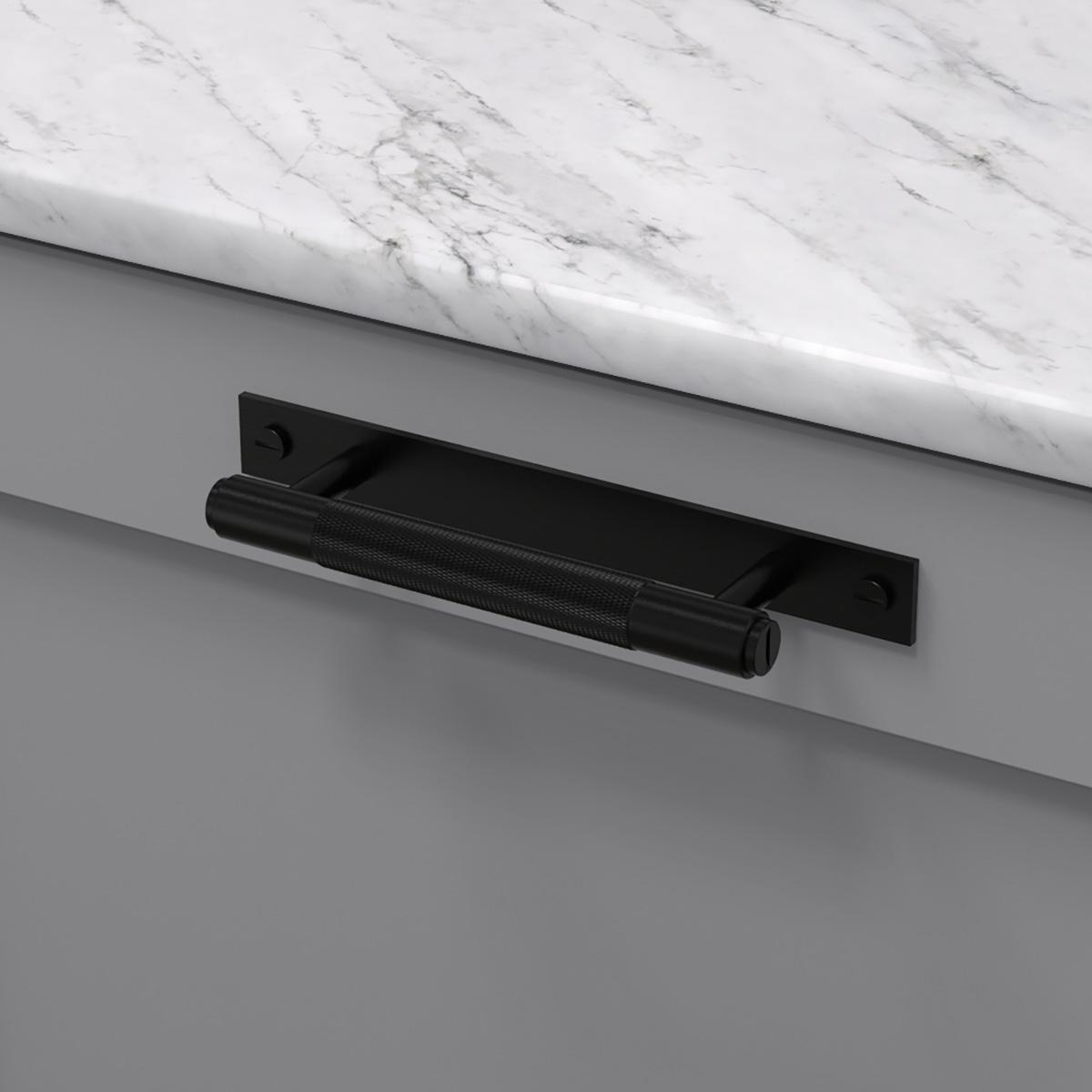 pull bar plate svart uk pb hp 160 bl a cc 125 mm ncs s 4500 n marmor carrara