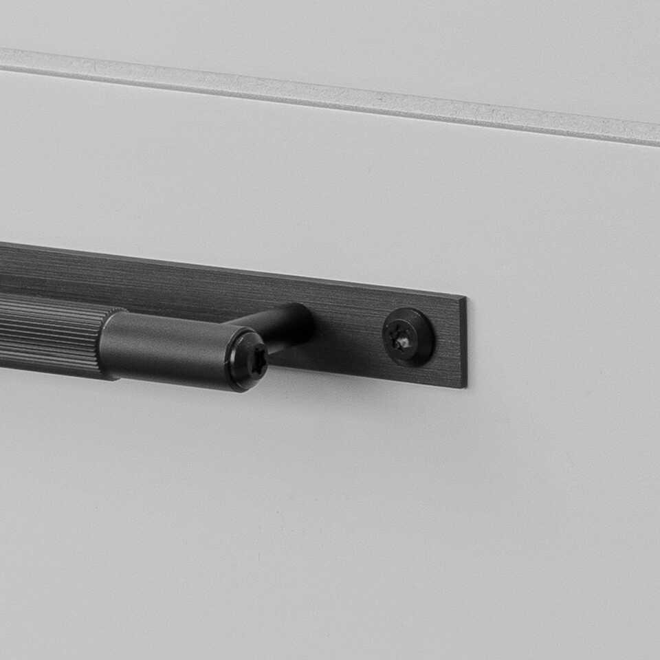 960x960 1. Pull Bar Plate Small Linear Black
