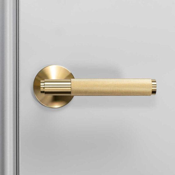 960x960 2. Door Handle Front Fixed Brass