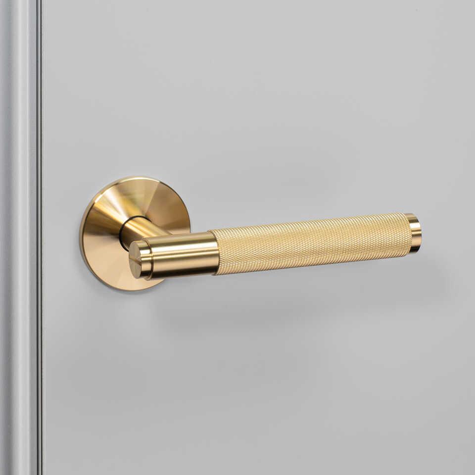 960x960 3. Door Handle Left Fixed Brass
