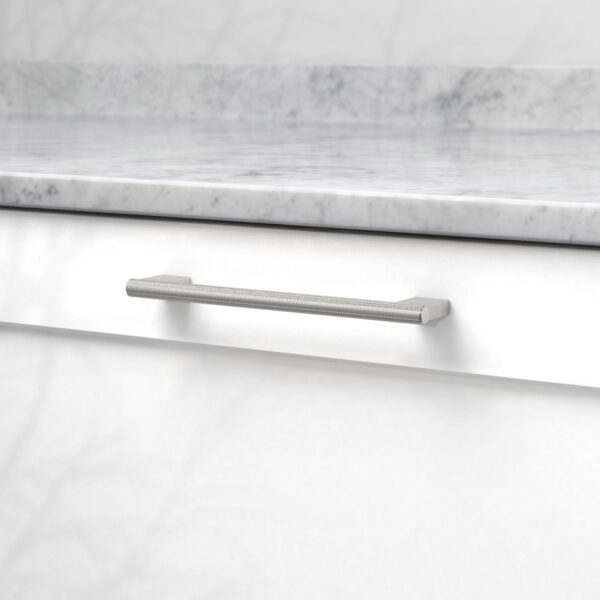 Handtag graf mini rostfri look 370232 11 cc 160 mm ncs s 0300 n marmor carrara
