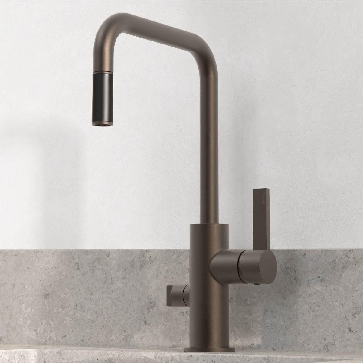 tapwell koksblandare arm887 bronze 9422678 noble concrete grey