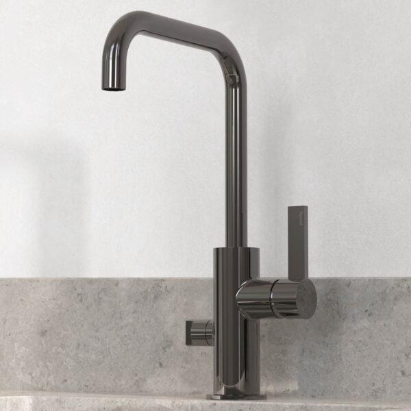 tapwell koksblandare arm984 black chrome 9421244 noble concrete grey