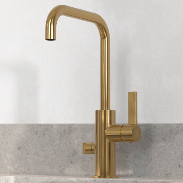 tapwell koksblandare arm984 brushed honey gold 9422668 noble concrete grey 1