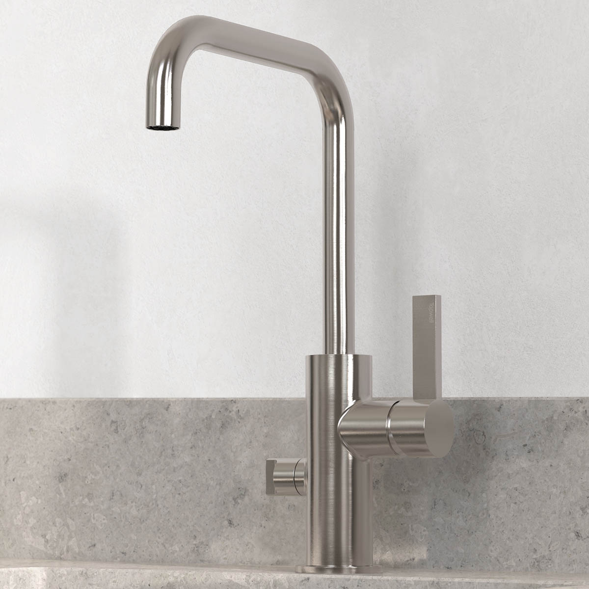 tapwell koksblandare arm984 brushed nickel 9421245 noble concrete grey